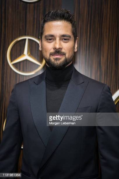 R Ramirez arrives at the MercedesBenz USA's Oscars Viewing Party at Four Seasons Hotel Los Angeles at Beverly Hills on February 24 2019 in Los...