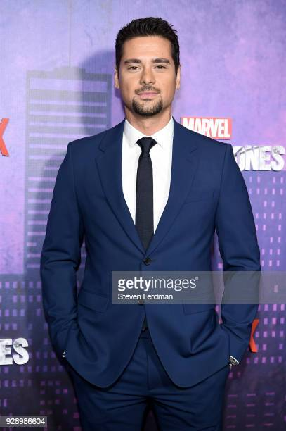 R Ramirez attends Jessica Jones Season 2 New York Premiere at AMC Loews Lincoln Square on March 7 2018 in New York City