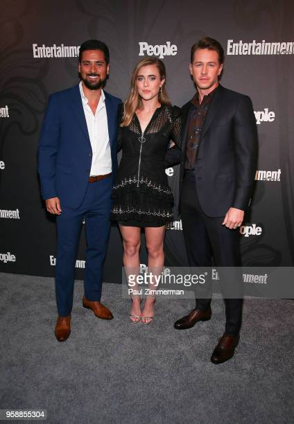 JR Ramirez Melissa Roxburgh and Josh Dallas attend the 2018 Entertainment Weekly PEOPLE Upfront at The Bowery Hotel on May 14 2018 in New York City