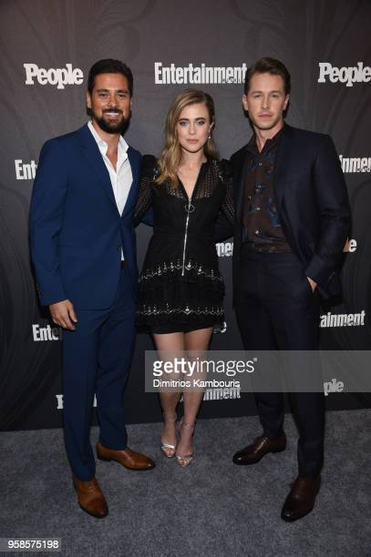 Ramirez, Melissa Roxburgh and Josh Dallas of Manifest attend Entertainment Weekly & PEOPLE New York Upfronts celebration at The Bowery Hotel on May...