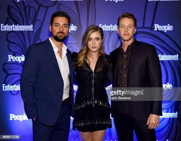 JR Ramirez Melissa Roxburgh and Josh Dallas of Manifest attend Entertainment Weekly PEOPLE New York Upfronts celebration at The Bowery Hotel on May...