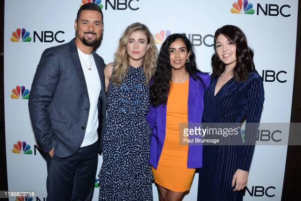 Ramirez, Melissa Roxburgh, Parveen Kaur and Luna Blaise attend NBC And The Cinema Society Host A Party For The Casts Of NBC Midseason 2020 at Rainbow...