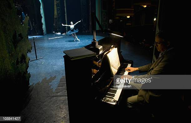 Ramirez rehearses with a pianist prior to the performance of 'Cinderella' at the Mayflower Theatre Southampton on April 29 2010