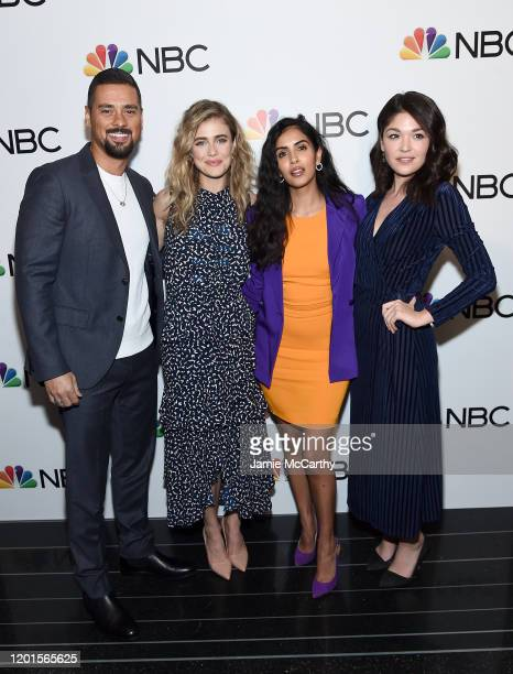Ramirez,Melissa Roxburgh,Parveen Kaur and Luna Blaise attend NBC and The Cinema Society host a party For the casts of NBC Midseason 2020 at The...