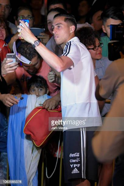 Ramiro Funes Mori of Argentina arrives to Diplomatic Hotel on November 19 2018 in Mendoza Argentina Argentina will face Mexico on November 20th as...