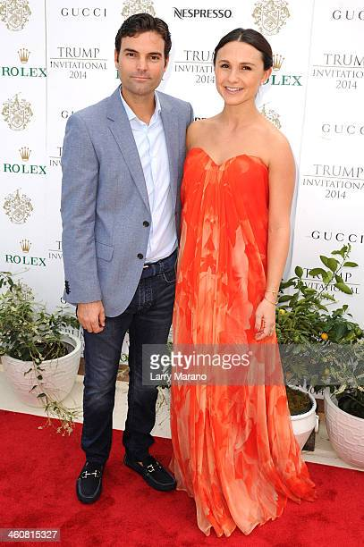 Ramiro Quintana and Georgina Bloomberg attend the 2014 Trump Invitational Grand Prix at The MaraLago Club on January 5 2014 in Palm Beach Florida