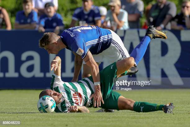 Ramis of Eibar and Felix Platte of Schalke battle for the ball during the preseason friendly match between FC Schalke 04 and SD Eibar on July 30 2017...
