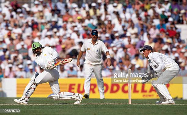 Ramiz Raja batting during his innings of 86 runs for Pakistan in the 2nd Texaco Trophy match between England and Pakistan at the Kennington Oval in...