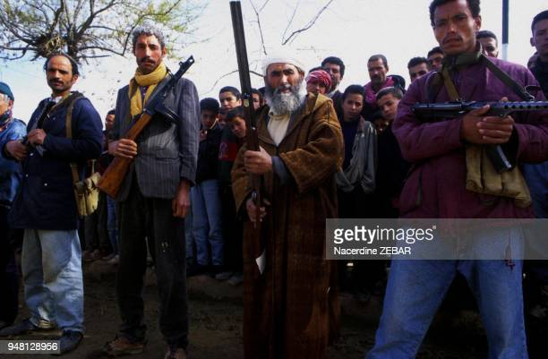 Ramka/Relizane, Algeria: Files January 1998. For villagers frightened by the Islamist threat, there are only two issues : arm themselve and face or...
