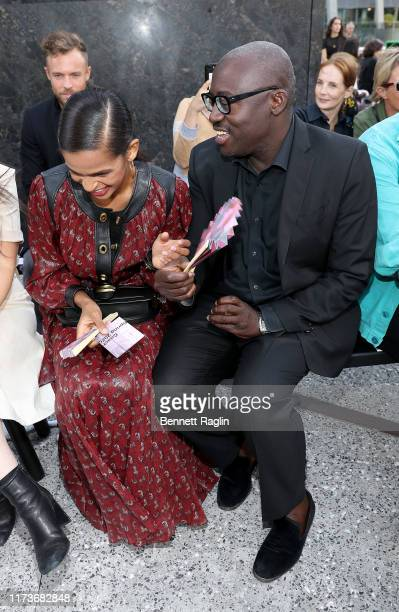 Ramla Ali and Edward Enninful attend the front row for Coach 1941 during New York Fashion Week on September 10 2019 in New York City