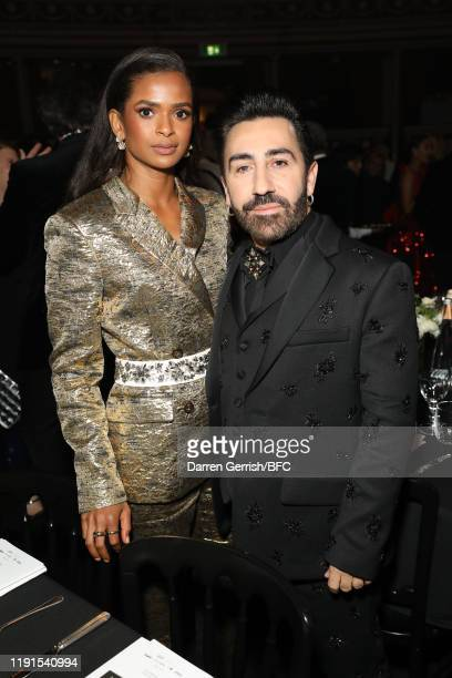 Ramla Ali and Johnny Coca attend The Fashion Awards 2019 after party held at Royal Albert Hall on December 02 2019 in London England