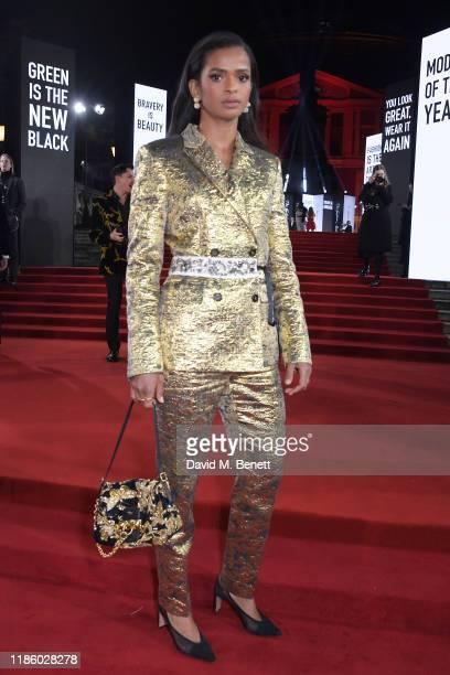 Ramla Ali arrives at The Fashion Awards 2019 held at Royal Albert Hall on December 2 2019 in London England