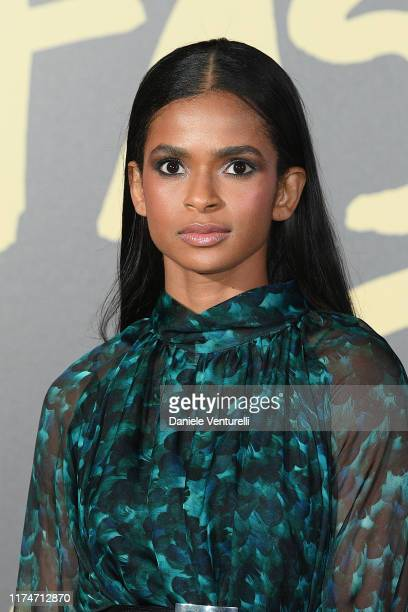 Ramla Ali attends Fashion For Relief London 2019 at The British Museum on September 14 2019 in London England