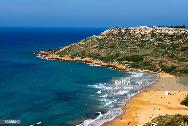Ramla Bay , Gozo, Malta, Mediterranean, Europe