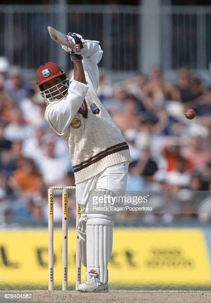 Ramnaresh Sarwan batting for West Indies during the 5th Test match between England and West Indies at The Oval London 4th September 2000