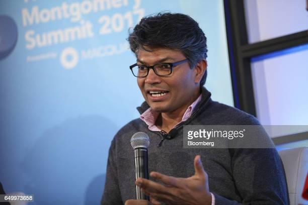 Ramneek Gupta managing director at Citi Ventures Inc speaks during The Montgomery Summit in Santa Monica California US on Wednesday March 8 2017 The...