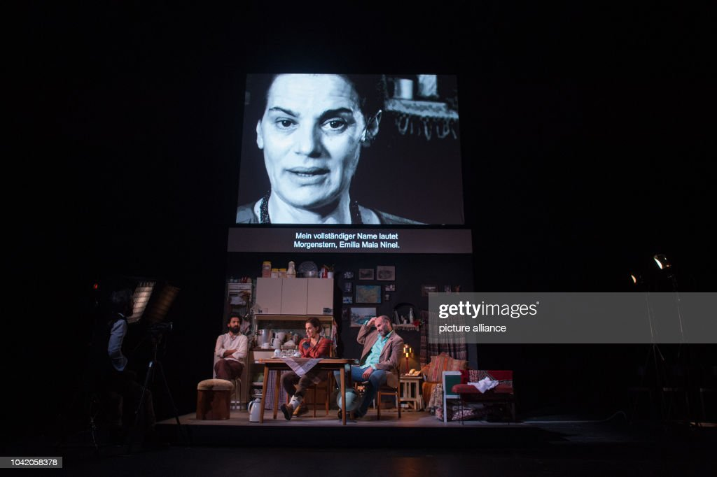 German premiere of theatre play 'Empire' : News Photo