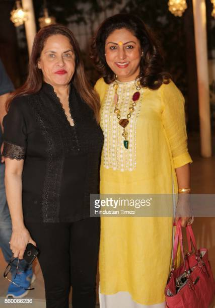 Ramola Bachchan and Rachna Sandhu during the launch of the nonfiction book Borderline by author Shabri Prasad Singh at the Lawns of Hotel Diplomat...