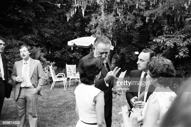 Ramon Castro brother of the famous Fidel Castro Ramon is pictured at a reception at the Cuban Embassy 8th July 1984