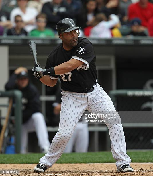 Ramon Castro of the Chicago White Sox takes a swing against the Baltimore Orioles at US Cellular Field on May 1 2011 in Chicago Illinois The Orioles...