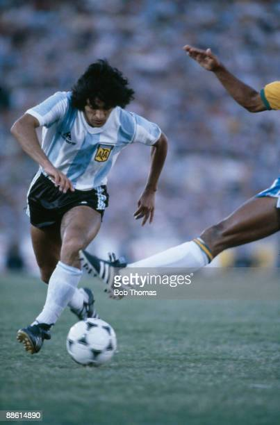 Ramon Diaz of Argentina during the Argentina v Brazil Copa De Oro match played in Montevideo Uruguay during January 1981