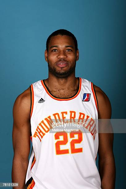 Ramon Dyer of the Albuquerque Thunderbirds poses for a portrait during DLeague media day on November 13 2007 at the Open Court in Lehi Utah NOTE TO...