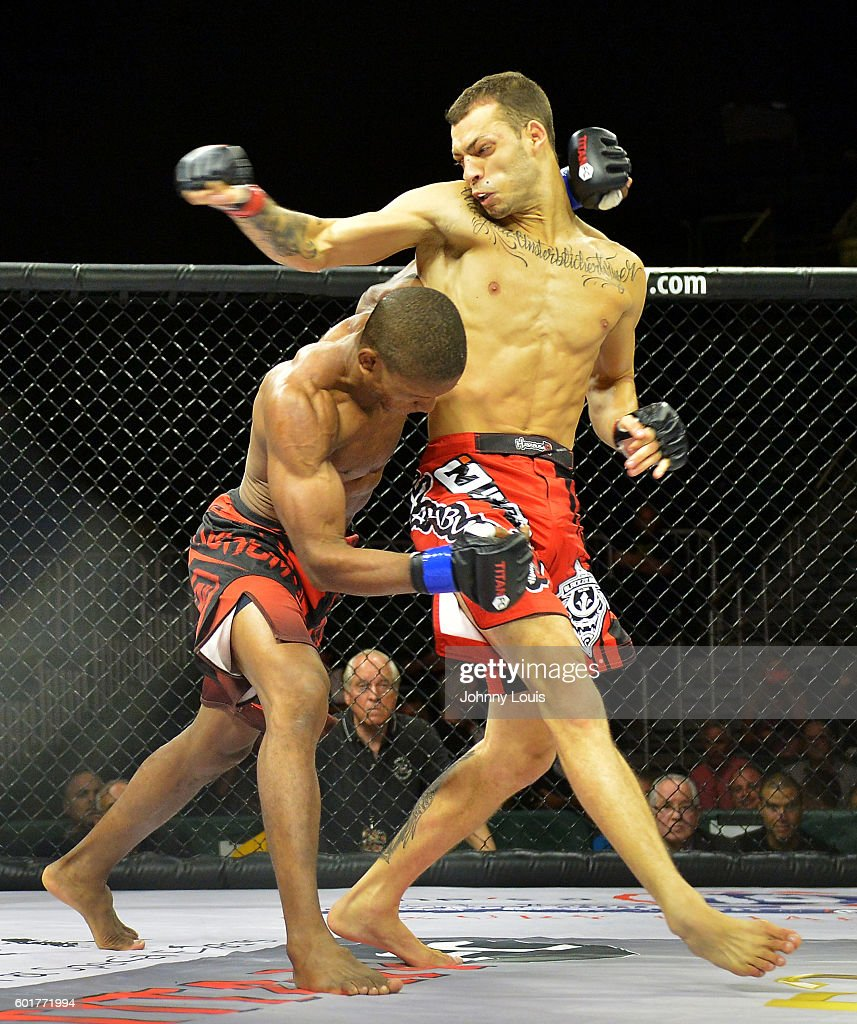 Ramon Emilio Nartinez fight Caio Urugaui in their 130 Catchweight bout during the TITAN FC41 UFC fight event at Bank United Center on September 9, 2016 in Miami, Florida.