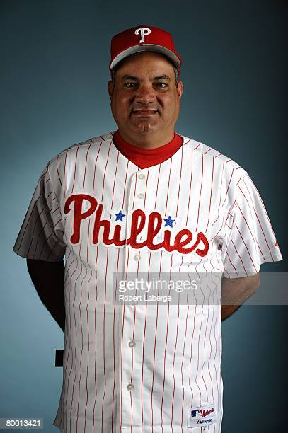 Ramon Henderson of the Philadelphia Phillies poses for a portrait during the spring training photo day on February 21, 2008 at Bright House Field in...