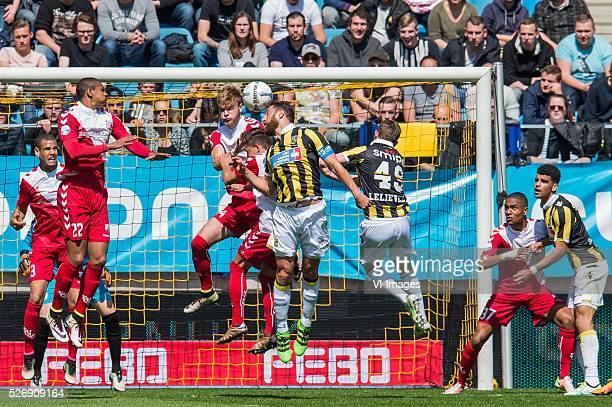 Ramon Leeuwin of FC Utrecht Sebastien Haller of FC Utrecht Timo Letschert of FC Utrecht Andreas Ludwig of FC Utrecht Guram Kashia of Vitesse Julian...