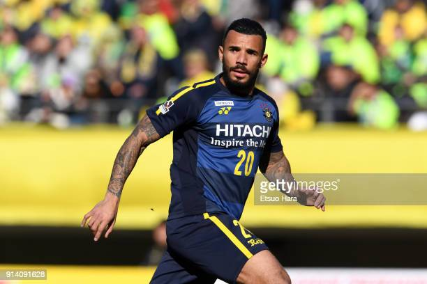 Ramon Lopes of Kashiwa Reysol in action during the preseason friendly match between JEF United Chiba and Kashiwa Reysol at Fukuda Denshi Arena on...