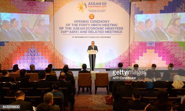 Ramon Lopez chairman of Association of Southeast Asian Nations 49th Economic ministers' meeting and Philippine secretary of Trade and Industry...