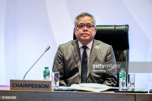 Ramon Lopez the Philippines' secretary of trade and industry attends the Asean economic council meeting at the Association of Southeast Asian Nations...