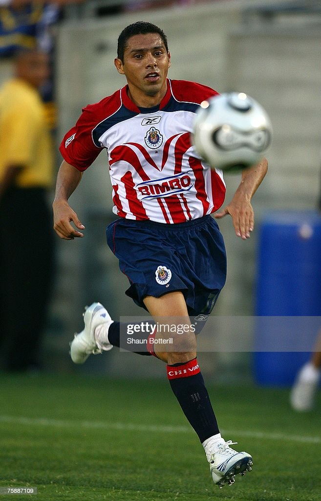8747325cafc Ramon Morales of CD Chivas de Guadalajara runs to the ball on the ...