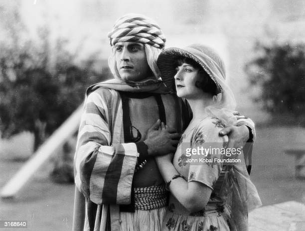 Ramon Novarro and Alice Terry star in the silent adventure 'The Arab' directed by Rex Ingram