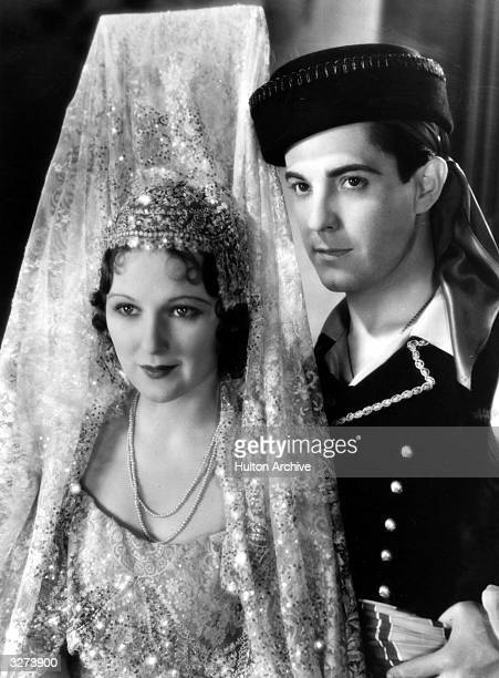 Ramon Novarro the screen name of Ramon Samaniegos the Mexican leading man and Dorothy Jordan the American actress in a scene from the film 'In Gay...