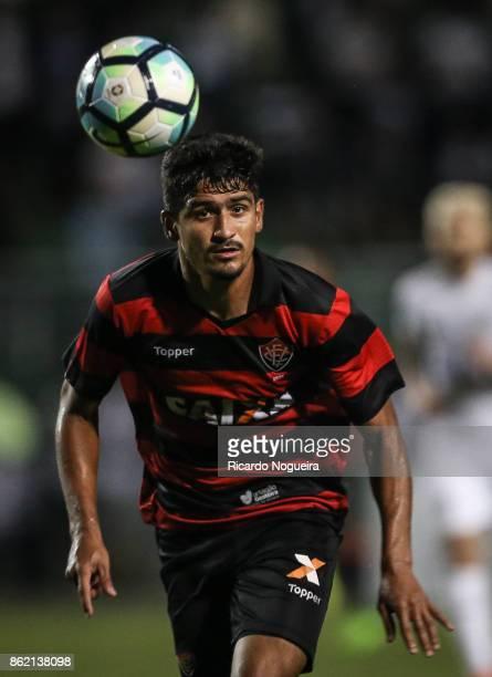 Ramon of Vitoria in action during the match between Santos and Vitoria as a part of Campeonato Brasileiro 2017 at Pacaembu Stadium on October 16 2017...