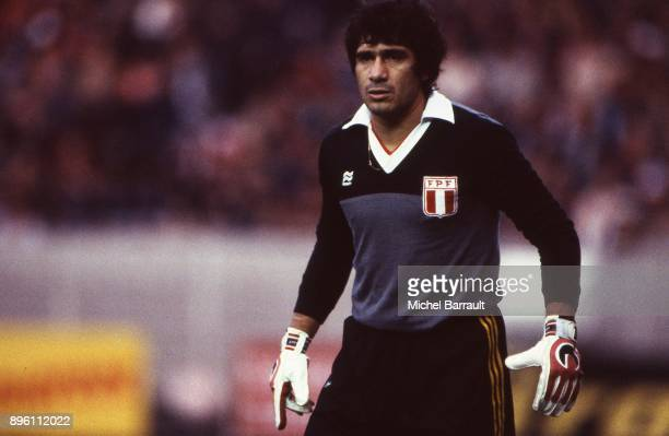 Ramon Quiroga of Peru during the International Friendly match between France and Peru at Parc des Princes in Paris on April 28th 1982