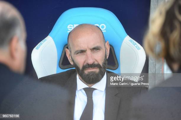 Ramon Rodriguez Verdejo aka as Monchi Sporting Director of AS Roma looks on prior the beginning of the serie A match between Spal and AS Roma at...