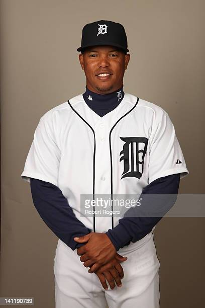 Ramon Santiago of the Detroit Tigers poses during Photo Day on Tuesday February 28 2012 at Joker Marchant Stadium in Lakeland Florida