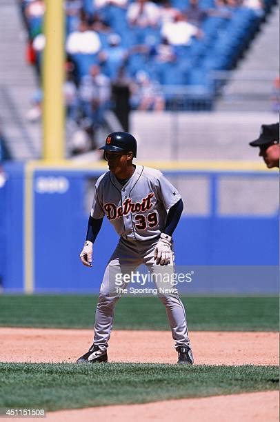 Ramon Santiago of the Detroit Tigers runs against the Chicago White Sox at Comiskey Park in Chicago Illinois on May 26 2002 The Tigers defeated the...