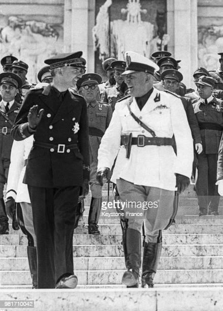 Ramon Serrano Suner et Benito Mussolini en Italie