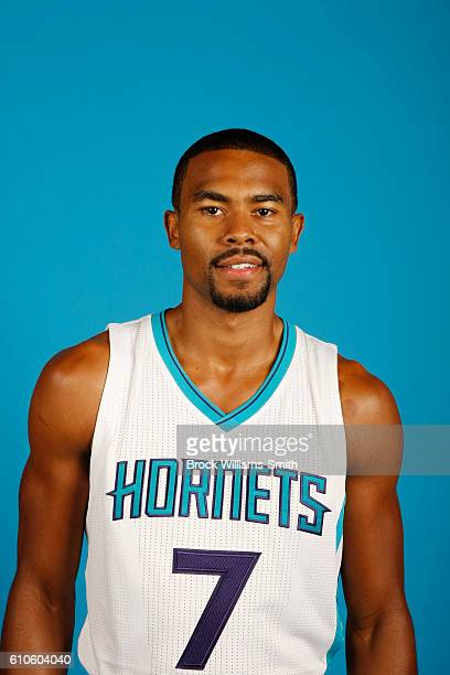 Ramon Sessions of the Charlotte Hornets poses for a head shot during the 20162017 Charlotte Hornets Media Day at the Time Warner Cable Arena on...