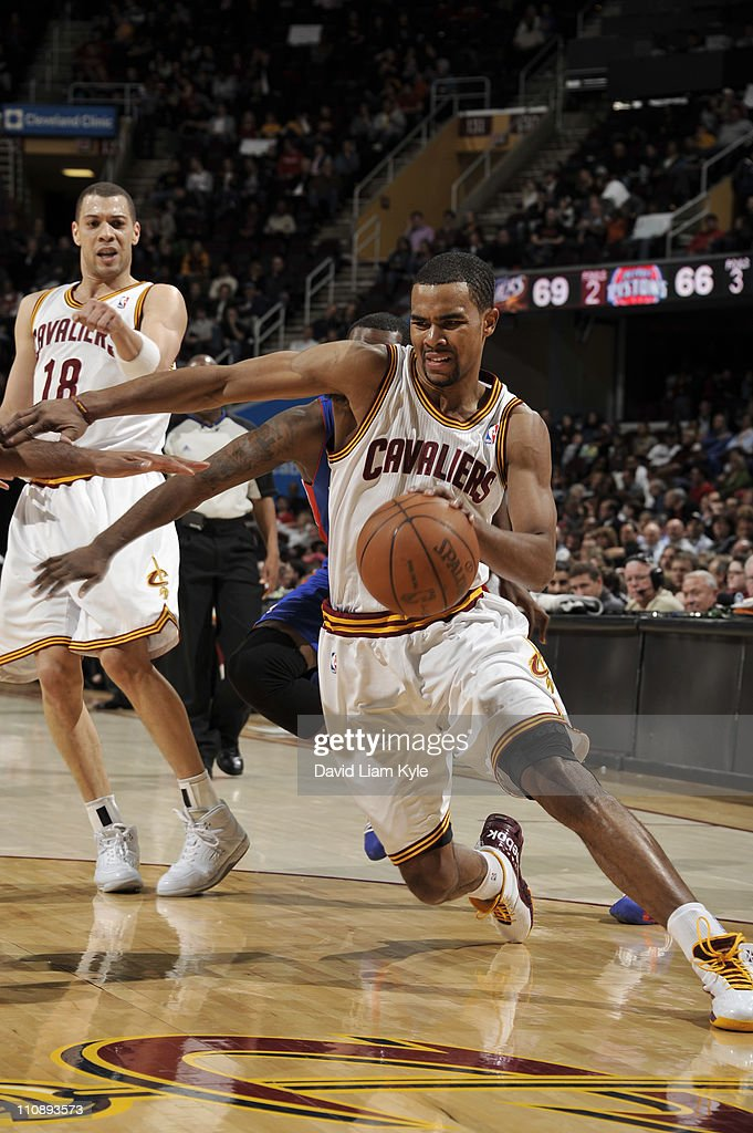 Ramon Sessions #3 of the Cleveland Cavaliers drives to the basket against the Detroit Pistons during the game at The Quicken Loans Arena on March 25, 2011 in Cleveland, Ohio.