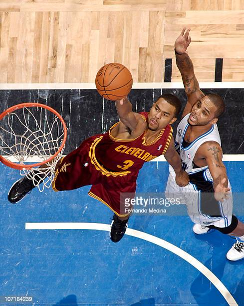 Ramon Sessions of the Cleveland Cavaliers shoots against Jameer Nelson of the Orlando Magic on November 26 2010 at the Amway Center in Orlando...