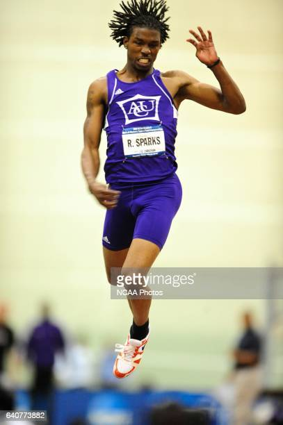 Ramon Sparks of Abilene Christian competes in the men's triple jump during the Division II Winter Sports Festival Men's and Women's Indoor Track and...