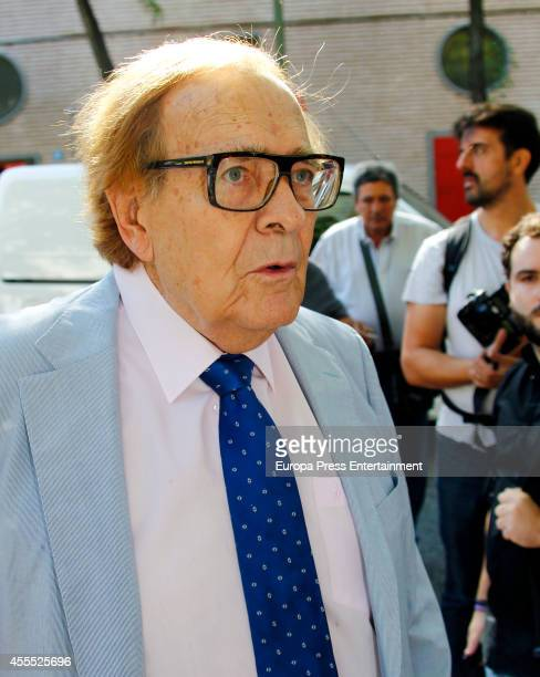 Ramon Tamames attends the funeral chapel for Isidoro Alvarez president of El Corte Ingles who died at 79 aged on September 15 2014 in Madrid Spain