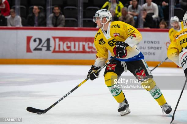 Ramon Untersander of SC Bern in action during the Swiss National League game between Lausanne HC and SC Bern at Vaudoise Arena on November 1 2019 in...