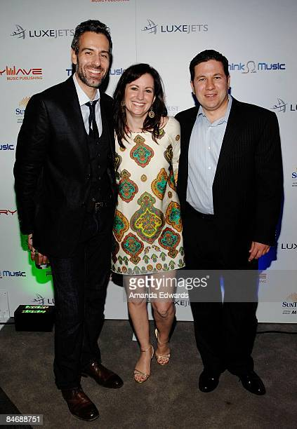 Ramon Villa Lori Badgett and Nick Morello attend the Primary Wave Music Publishing preGrammy party at SLS Hotel on February 7 2009 in Los Angeles...