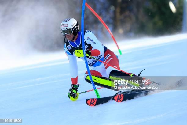 Ramon Zenhaeusern of Switzerland competes during the Audi FIS Alpine Ski World Cup Men's Slalom on January 5 2020 in Zagreb Croatia