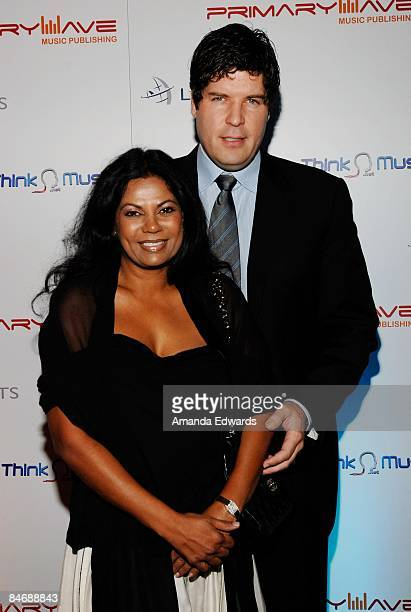 Ramona and Matt Serletic attend the Primary Wave Music Publishing preGrammy party at SLS Hotel on February 7 2009 in Los Angeles California